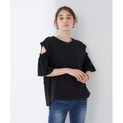 tシャツ Tシャツ ・カットアウトショルダーTee**