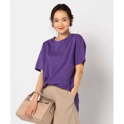 NOLLEY'S / ドライ天竺ラウンドテールTシャツ WOMEN トップス > Tシャツ/カットソー