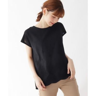 SHOO・LA・RUE / 【M-LL】スカラップ刺繍コットンプルオーバー WOMEN トップス > シャツ/ブラウス