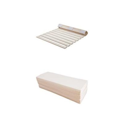 【セット買い】すのこベッド 桐 ロール式 通気性 シングル * マットレス 六つ折り 厚さ4cm シングル