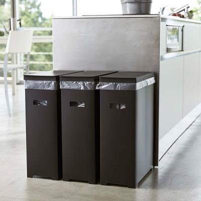 ダストボックス ゴミ箱 45L スリム おしゃれ tower タワー スリム蓋付きゴミ箱 3個組