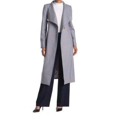 テッドベーカー レディース ジャケット&ブルゾン アウター Wool Blend Wrap Coat GREY