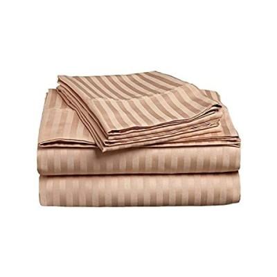 550 Thread Count Ultra Soft 100% Cotton 4-PCs Sheet Set Fits Mattress 10-12好評販売中