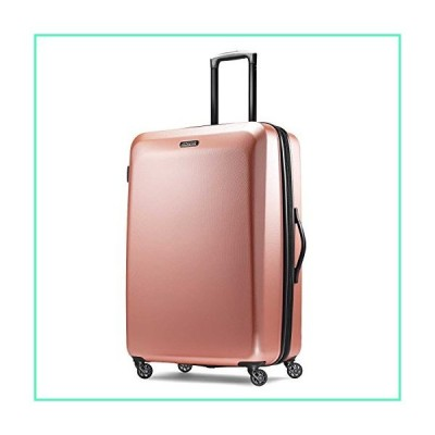 American Tourister Moonlight Hardside Expandable Luggage with Spinner Wheels, Rose Gold, Checked-Large 28-Inch並行輸入品