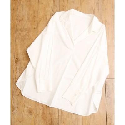シャツ ブラウス And A ドロップショルダー デザイン オープンカラーシャツ