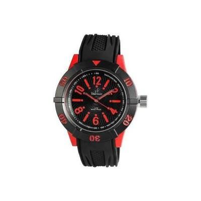 ジュエリー 腕時計 タイムテック TIMETECH メンズ 腕時計 ブラック レッド スポーツ シリコン リスト バンド 腕時計 750-012