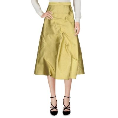 PUSHBUTTON 7分丈スカート プラチナ XS コットン 44% / レーヨン 28% / シルク 14% / 金属 14% 7分丈スカート