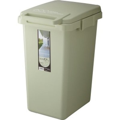 ゴミ箱/ダストボックス ライトグリーン 47L 幅34.1cm 洗える ふた付き コンテナスタイル2 『リス』 〔キッチン 台所〕 生活用品 インテリ