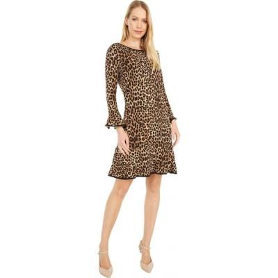 マイケル コース MICHAEL Michael Kors レディース ワンピース ワンピース・ドレス Cheetah Flounce Dress Dark Camel