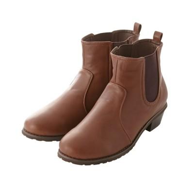 【ゆったり幅】サイドゴアショートブーツ(低反発中敷)(選べるワイズ) ブーツ・ブーティ, Boots