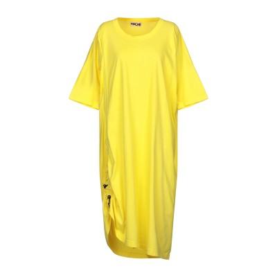ハイケ HACHE 7分丈ワンピース・ドレス イエロー 38 コットン 100% 7分丈ワンピース・ドレス
