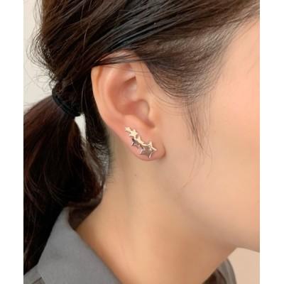 wears / スターモチーフイヤーカフ風ピアス WOMEN アクセサリー > ピアス(両耳用)