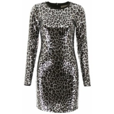 MICHAEL KORS/マイケルコース ドレス GUNMETAL Michael michael kors animalier sequins mini dress レディース 秋冬2019 MF98Z4LCJE ik