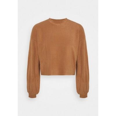 ヴェロモーダ パーカー・スウェットシャツ レディース アウター VMWAFFLE  - Sweatshirt - tawny brown