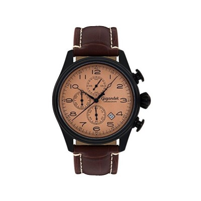 Gigandet Men's Quartz Watch Timeless Chronograph Analog Leathr Strap Brown G41-004 並行輸入品