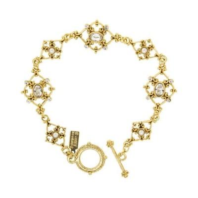 ダウントン アビー レディース ブレスレット・バングル・アンクレット アクセサリー 14K Gold-Dipped Crystal Link Toggle Bracelet