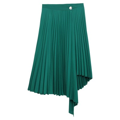 SANDRO 7分丈スカート エメラルドグリーン 1 ポリエステル 100% 7分丈スカート