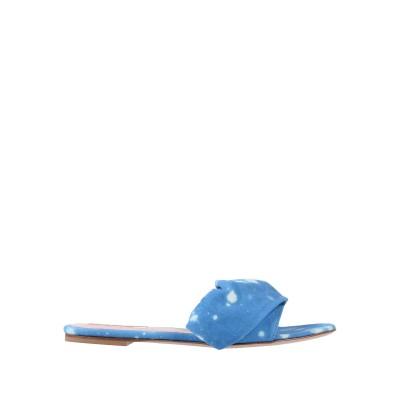 エムエスジーエム MSGM サンダル ブルー 41 紡績繊維 サンダル