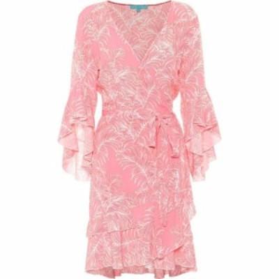 メリッサ オダバッシュ Melissa Odabash レディース ワンピース ワンピース・ドレス Kirsty printed wrap minidress Tropical Coral