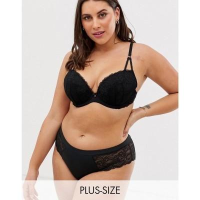 アンサマーズ Ann Summers レディース ブラジャーのみ インナー・下着 Sexy curve Lace plunge bra in black ブラック