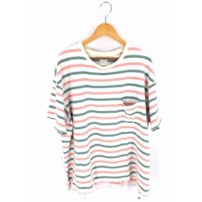 イエスタデイズトゥモロー YSTRDYs TMRRW UネックTシャツ サイズSmall メンズ 【中古】【ブランド古着バズストア】