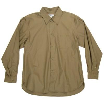 tone 2018AW レギュラーカラーシャツ ブラウン サイズ:2 (三宮店) 200524