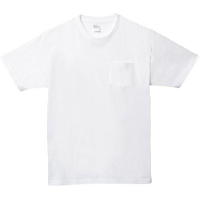 プリントスター Printstar  5.6オンス ヘビーウェイトポケットTシャツ ホワイト ビッグサイズ 00109−PCT XS−XL 00