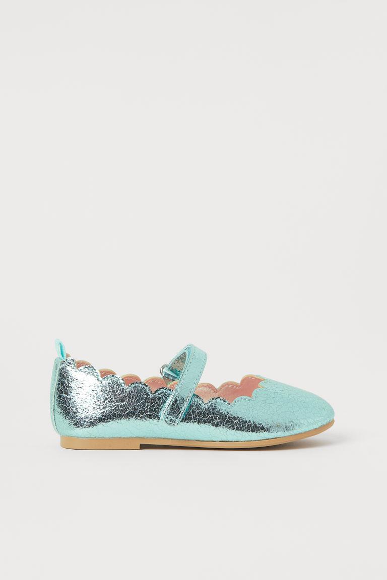 H & M - 亮感芭蕾淺口鞋 - 綠色