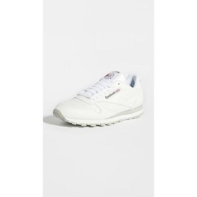 リーボック Reebok メンズ スニーカー シューズ・靴 classic leather sneakers White