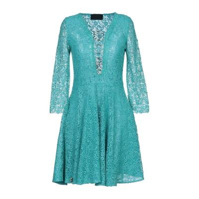 PHILIPP PLEIN ミニワンピース&ドレス ターコイズブルー S ポリエステル 100% ミニワンピース&ドレス