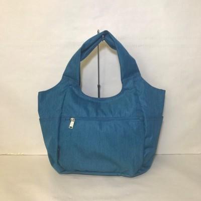 バッグ カバン 鞄 レディース 小さく折りたためる A4対応トートバッグ カラー ブルー