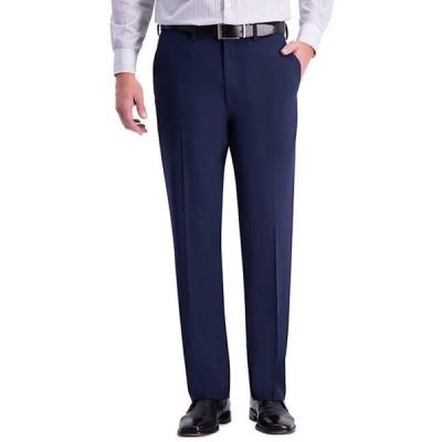 ハガー メンズ カジュアルパンツ ボトムス 4 Way Stretch Solid Gab Classic Fit Flat Front Suit Separate Pants
