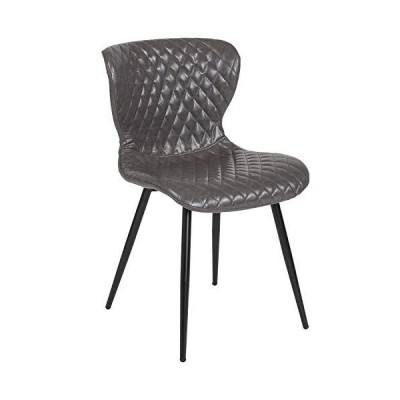 Flash Furniture Bristol Contemporary Upholstered Chair in Gray Vinyl
