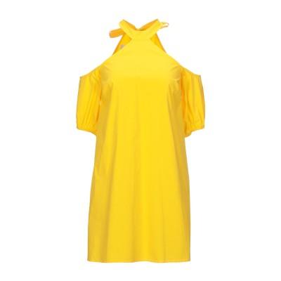 メルシー ..,MERCI ミニワンピース&ドレス イエロー 38 コットン 97% / ポリウレタン 3% ミニワンピース&ドレス