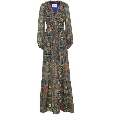 PERSEVERANCE ロングワンピース&ドレス ブラウン 10 シルク 96% / Lurex® 4% ロングワンピース&ドレス