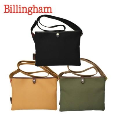 【3 COLORS】BILLINGHAM(ビリンガム) SACOCHE FLAT SHOULDER BAG(サコッシュ フラット ショルダーバッグ) RUBBER BONDING COTTON