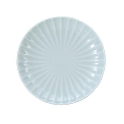和食器 しのぎかすみ ペパーミント青磁 14.5cm丸皿