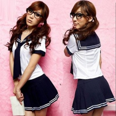 【2】学生服 コスプレ 衣装 セーラー服 スカート 女子制服 レディース コスチューム コス 女子高生 制服