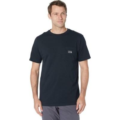 マウンテンハードウェア Mountain Hardwear メンズ Tシャツ ポケット トップス MHW Logo(TM) Label Short Sleeve Pocket Tee Black