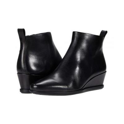 ECCO エコー レディース 女性用 シューズ 靴 ブーツ アンクル ショートブーツ Shape 45 Wedge Ankle Boot - Black Cow Leather