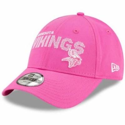 New Era ニュー エラ スポーツ用品  New Era Minnesota Vikings Girls Toddler Pink Scribble 9FORTY Adjustable Hat