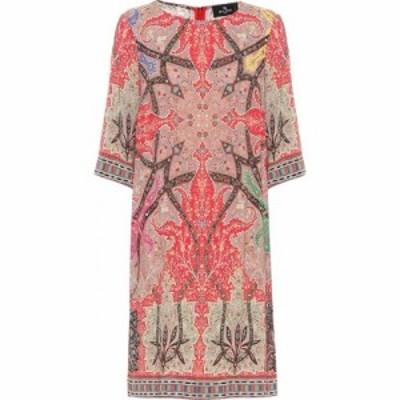 エトロ Etro レディース ワンピース シフトドレス ワンピース・ドレス Printed Stretch-Crepe Shift Dress