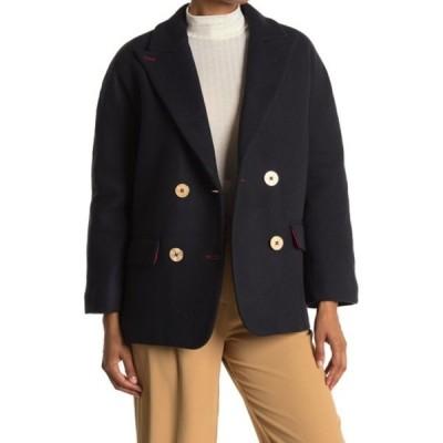 ザディグ エ ヴォルテール レディース ジャケット&ブルゾン アウター Marina Double Breasted Wool Blend Coat MARINE