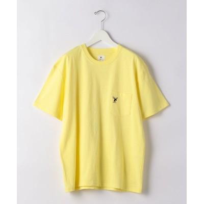 【グリーンレーベルリラクシング】 別注 [ ジョナス クレアッソン ] JONAS GLR BEACH CAMP Tシャツ メンズ イエロー L green label relaxing