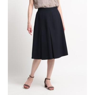 SunaUna/スーナウーナ 【洗える】斜め切替えデザインフレアスカート ネイビー(093) 40(L)
