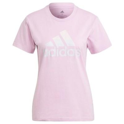 アディダス カットソー トップス レディース Women's Cotton Badge of Sport T-Shirt Clear Lilac