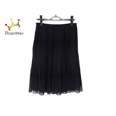 ランバンコレクション スカート サイズ40 M レディース 美品 黒 プリーツ/ドット柄  値下げ 20210429