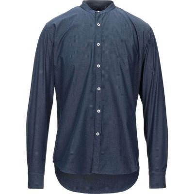 バルバッティ BARBATI メンズ シャツ トップス Patterned Shirt Dark blue