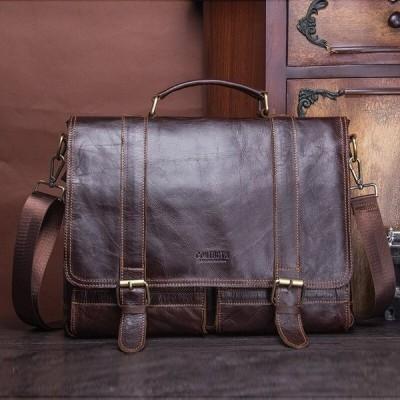 メンズ ブリーフケース 本革 ビジネスバッグ カジュアル ヴィンテージ 高級 鞄 ショルダー