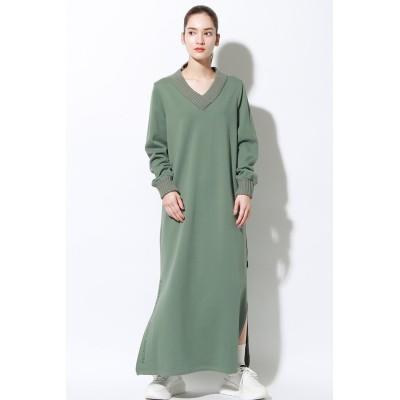ECOALF エコアルフ LAKE ニット ドレス / LAKE DRESS WOMAN レディース カーキ(濃) SS